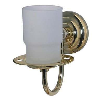 Allied Brass Que New Toothbrush & Tumbler Holder; Polished Nickel