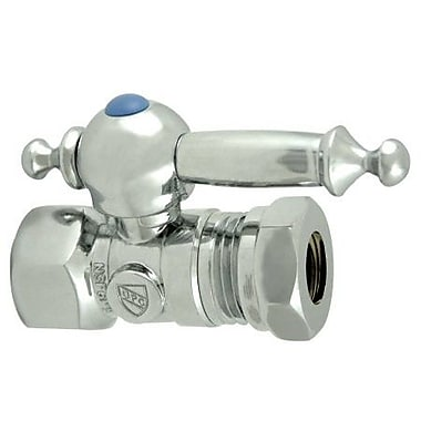 Elements of Design Quarter Turn Valves w/ Templeton Lever Handle; Chrome