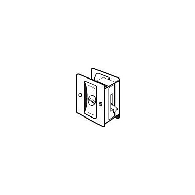 DON-JO MFG INC. Privacy Pocket Door Lock; Brushed Chrome