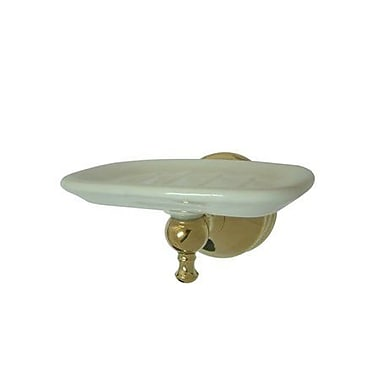 Elements of Design Naples Soap Dish; Polished Brass