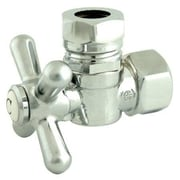 Elements of Design 1.87'' Decorative Quarter Turn Valve w/ Cross Handle; Chrome
