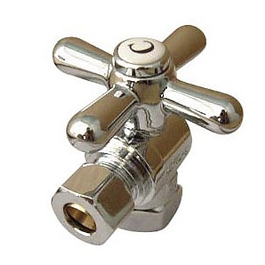 Elements of Design 1.75'' x 2.325'' Decorative Quarter Turn Valves; Dark Bronze