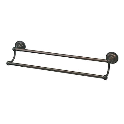 Gatco Tiara Double 26.4'' Wall Mounted Towel Bar; Oil Rubbed Bronze