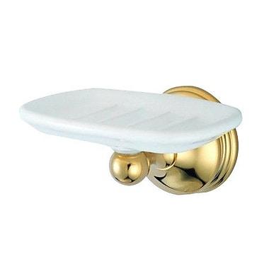 Elements of Design Vintage St. Louis Soap Dish; Polished Brass