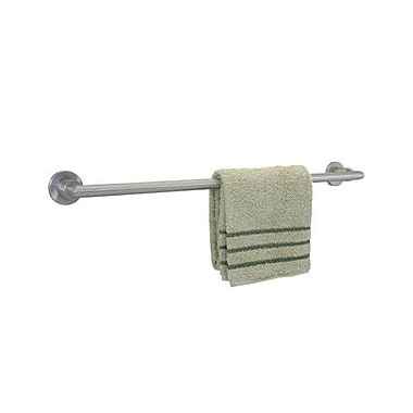 Dynasty Hardware Manhattan Single 24'' Wall Mounted Towel Bar; Satin Nickel