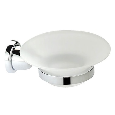 Artos Cantori Wall Mount Soap Dish; Chrome w/ Frosted Glass