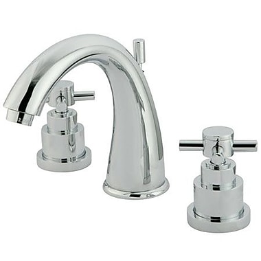 Elements of Design Tampa Widespread Bathroom Faucet w/ Double Cross Handles; Polished Chrome