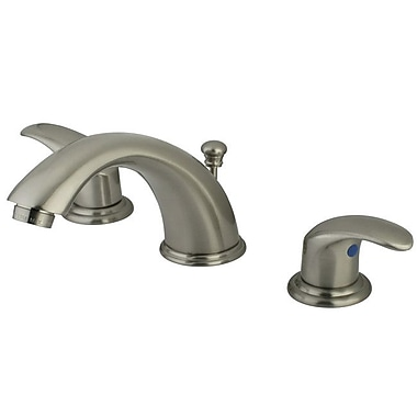 Elements of Design Magellan Widespread Double Handle Bathroom Faucet w/ Drain Assembly; Satin Nickel