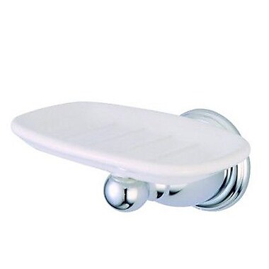 Elements of Design Heritage New Orleans Soap Dish; Polished Nickel