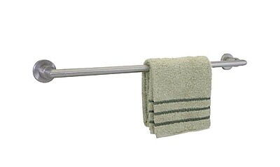 Dynasty Hardware Manhattan Single 30'' Wall Mounted Towel Bar; Satin Nickel