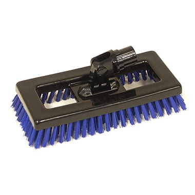 SYR Swivel Deck Brush BLK Bristles; Blue