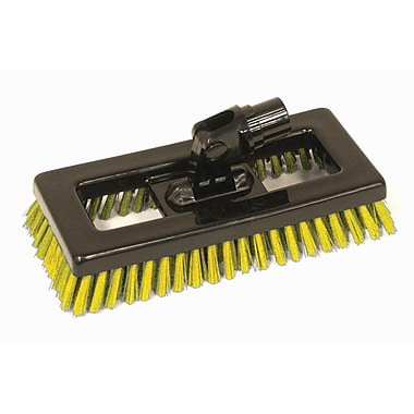 SYR Swivel Deck Brush BLK Bristles; Yellow