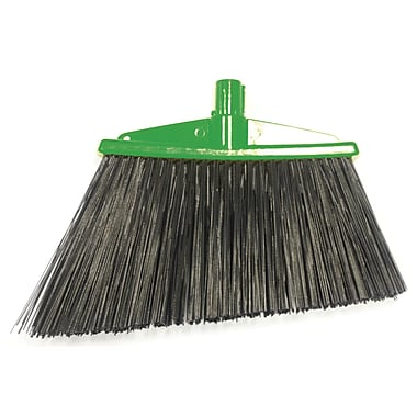 SYR Angle Broom w/ Bristles; Green
