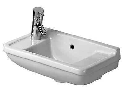 Duravit Starck 3 Ceramic 20'' Wall Mount Bathroom Sink w/ Overflow; Left