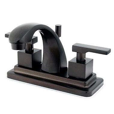 Elements of Design Tampa Centerset Bathroom Faucet w/ Drain Assembly; Oil Rubbed Bronze
