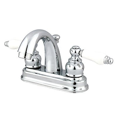Elements of Design Restoration Centerset Bathroom Faucet w/ Drain Assembly; Polished Chrome