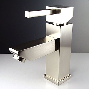 Fresca Versa Single Hole Mount Bathroom Faucet w/ Single Handle; Brushed Nickel