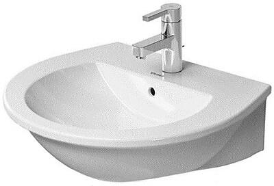 Duravit Darling New Ceramic 22'' Pedestal Bathroom Sink w/ Overflow