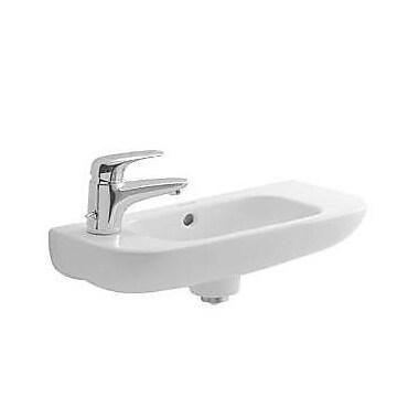 Duravit D-Code Ceramic 20'' Wall Mount Bathroom Sink w/ Overflow; Left Tap Hole