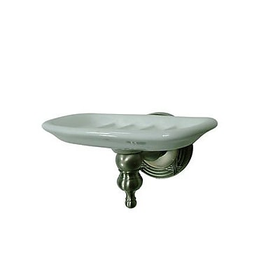 Elements of Design Templeton Soap Dish; Satin Nickel