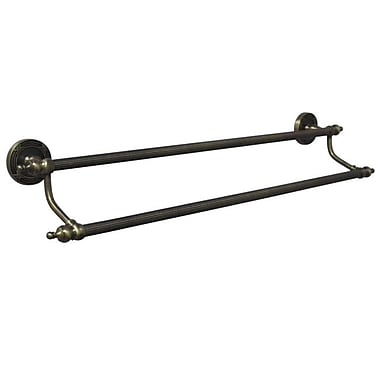 Elements of Design Templeton Double 24'' Wall Mounted Towel Bar; Vintage Brass