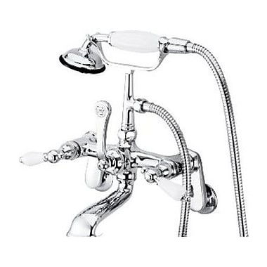 Elements of Design Hot Springs Double Handle Wall Mount Clawfoot Tub Faucet Trim; Chrome