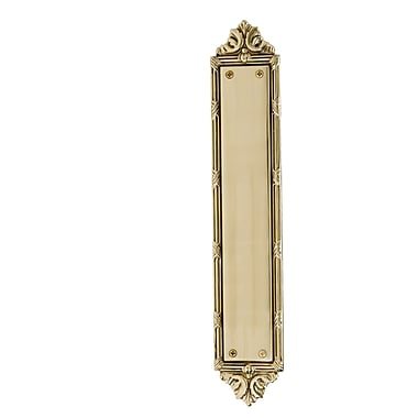 BRASS Accents Ribbon and Reed Pull Handle/Plate; Polished Brass