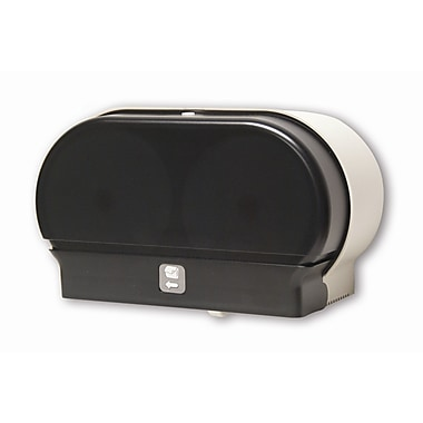 Palmer Fixture Mini-Twin Standard Tissue Dispenser; Dark Translucent