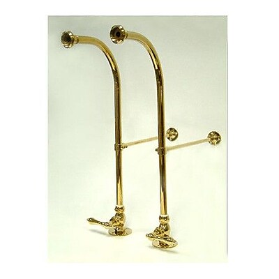 Elements of Design Vintage Freestanding Water Supply w/ Metal Lever; Polished Brass