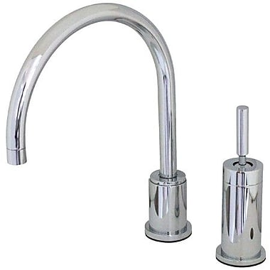 Elements of Design Widespread Kitchen Faucet w/ Metal Lever Handle; Polished Chrome