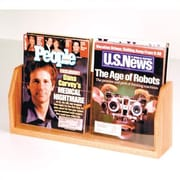 Wooden Mallet Countertop Two Pocket Magazine Display; Light Oak