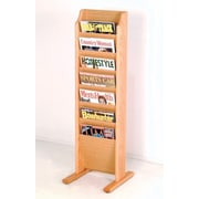 Wooden Mallet 7 Pocket Free Standing Magazine Rack; Light Oak
