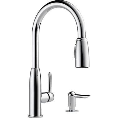Peerless Faucets Pull Down Single Handle Kitchen Faucet; Chrome