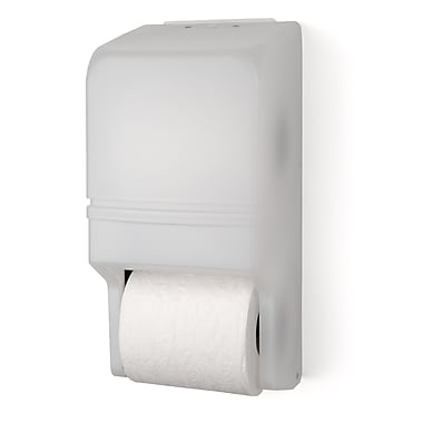 Palmer Fixture Two Roll Standard Tissue Dispenser; White Translucent