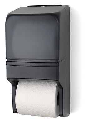 Palmer Fixture Two Roll Standard Tissue Dispenser; Dark Translucent