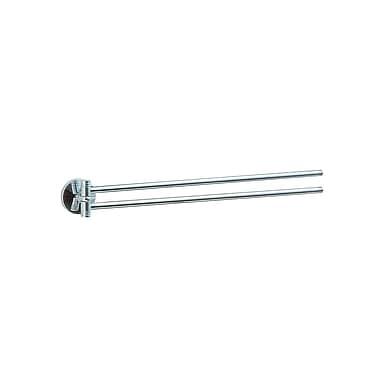 Smedbo Studio Double Wall Mounted Towel Bar; Polished Chrome / Textured Accents