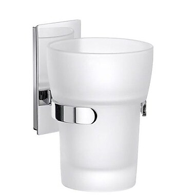 Smedbo Pool Glass Tumbler and Tumbler Holder