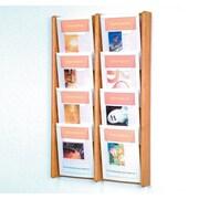 Wooden Mallet 8 Pocket Wall Display; Light Oak