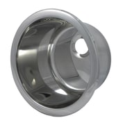 Opella 12.1'' x 12.1'' Round Bar Sink; Polished Stainless Steel