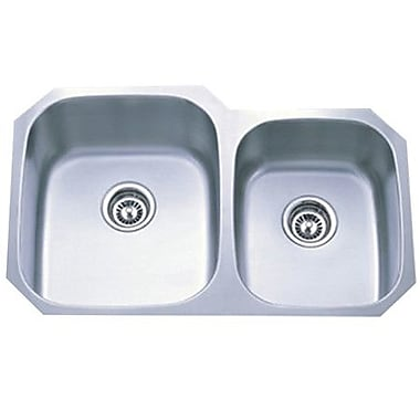 Kingston Brass Loft 20.5'' x 31.75'' Gourmetier Undermount Double Bowl Kitchen Sink