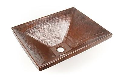 D'Vontz Copper Bathroom Sinks Metal Rectangular Undermount Bathroom Sink