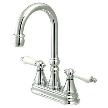 Kingston Brass Governor Double Handle Centerset Bar Faucet; Polished Chrome