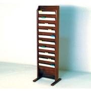 Wooden Mallet Free Standing Ten Pocket Chart Holder; Dark Red Mahogany