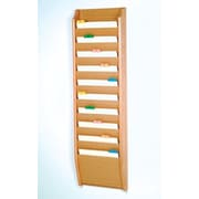Wooden Mallet Ten Pocket Chart Holder; Light Oak