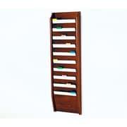 Wooden Mallet Ten Pocket Chart Holder; Dark Red Mahogany