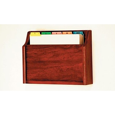 Wooden Mallet Single Pocket Chart Holder; Dark Red Mahogany