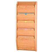 Wooden Mallet Five Pocket HIPPAA Compliant Chart Holder; Light Oak
