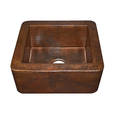Native Trails Cabana 16'' x 7.5'' Copper Bar Sink; Antique Copper