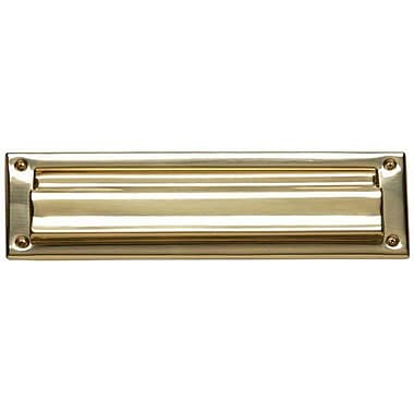 BRASS Accents 10 in x 3 in Mail Slot; Satin Nickel