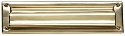 BRASS Accents 13 in x 3.5 in Brass Mail Slot; Oil Rubbed Bronze